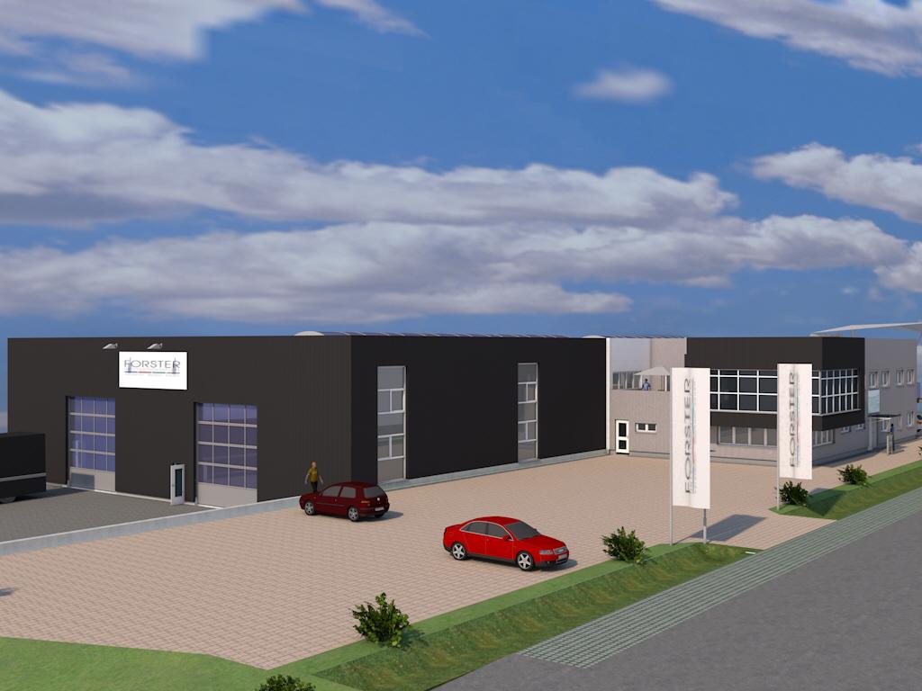 Neubau eines Stahlbaubetriebes im Gewerbegebiet Turnhallesiedlung in Mantel